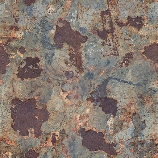 M165 rusty flaking iron metal texture