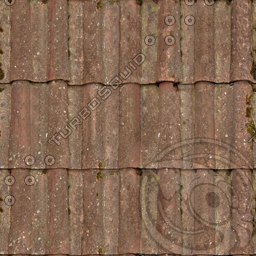 UPRF14 clay roof tiles texture