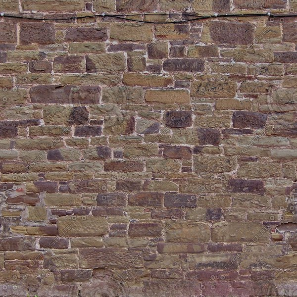 W114 red brown sandstone wall texture
