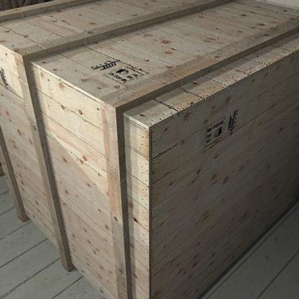 CRT01 large cargo crate 3d model