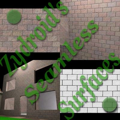 SRF cinder breeze blocks wall texture