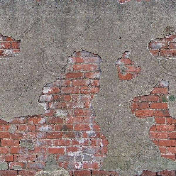 W358 damaged red bricks texture