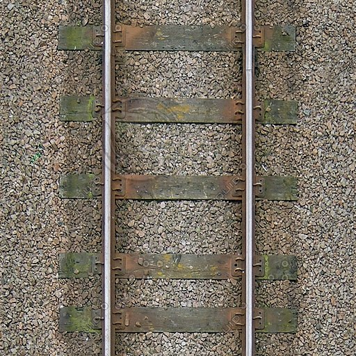 G245 railroad track wooden