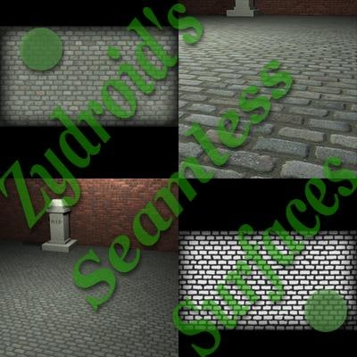 SRF cobblestones texture with bump map