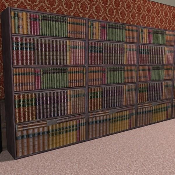 fake bookcase books 3d 3ds