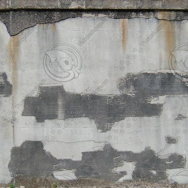 W389 damaged stucco wall