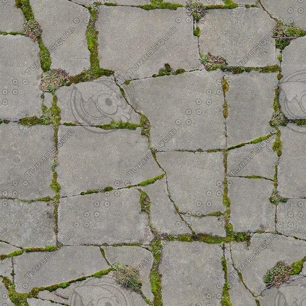 G175 crazy paving mossy