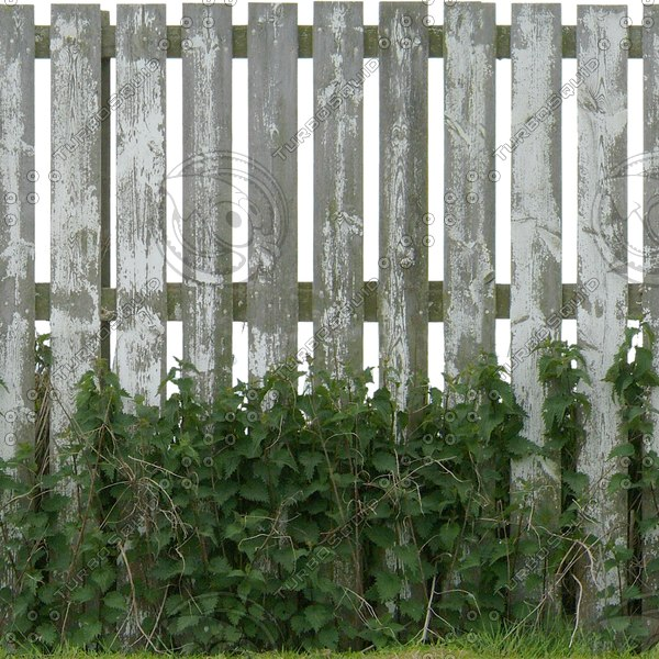 F027 wooden fence painted texture
