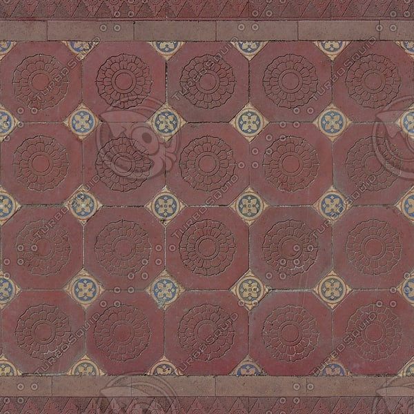 FL007 floral patterned tiles texture