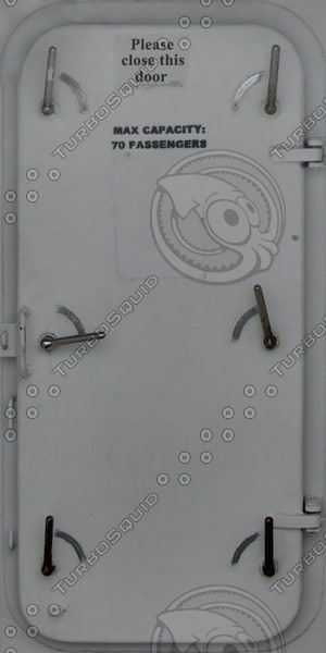 D182 metal ship door