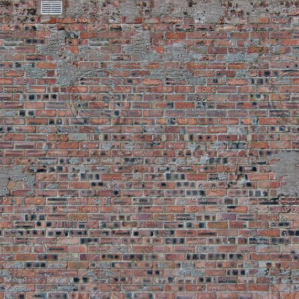 W354 distressed brick wall texture