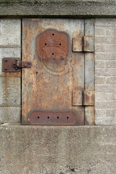 D185 iron steel door texture