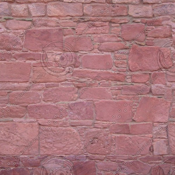W126 red sandstone wall texture