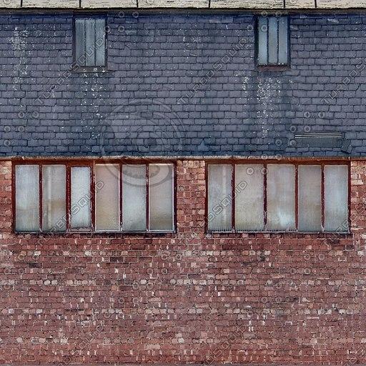 BF084 brick building facade