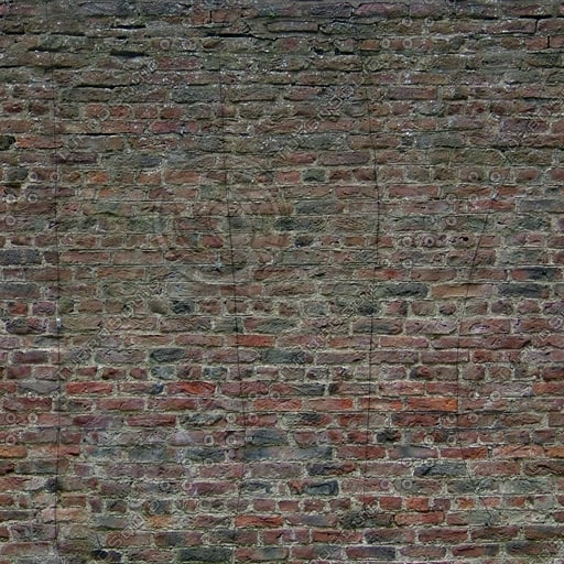 W290 red brick wall texture
