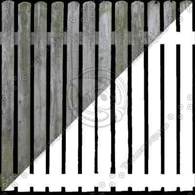 F020 wooden picket fence