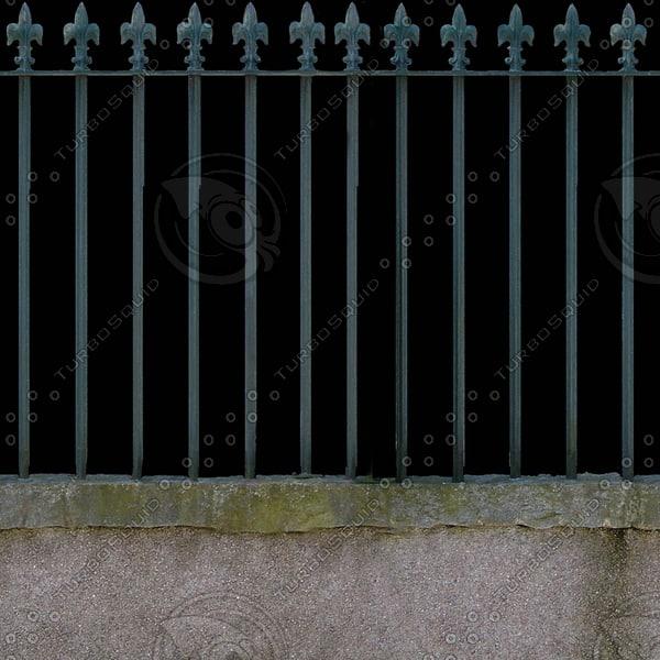 F009 metal garden fence texture