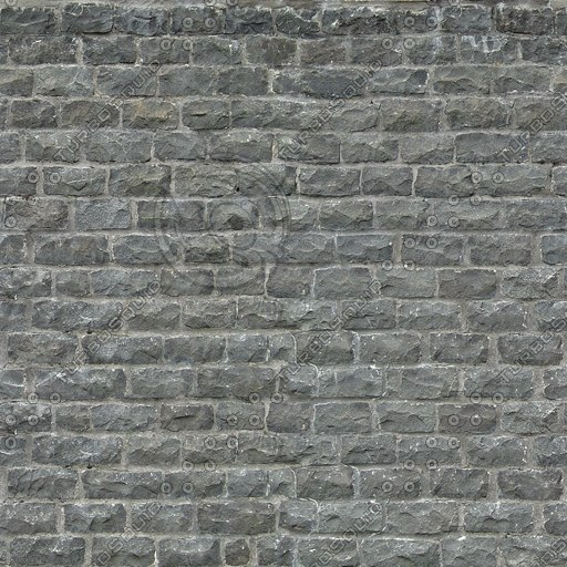 W317 stone wall dark gray