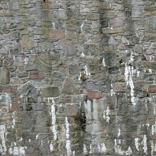 W079 weathered stone wall