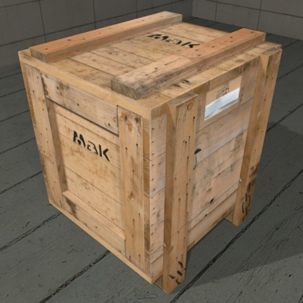3d 3ds old crate box