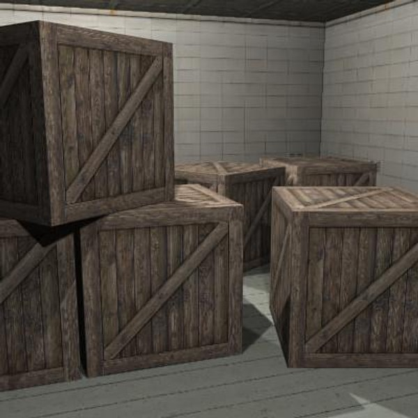 crate box 3d 3ds