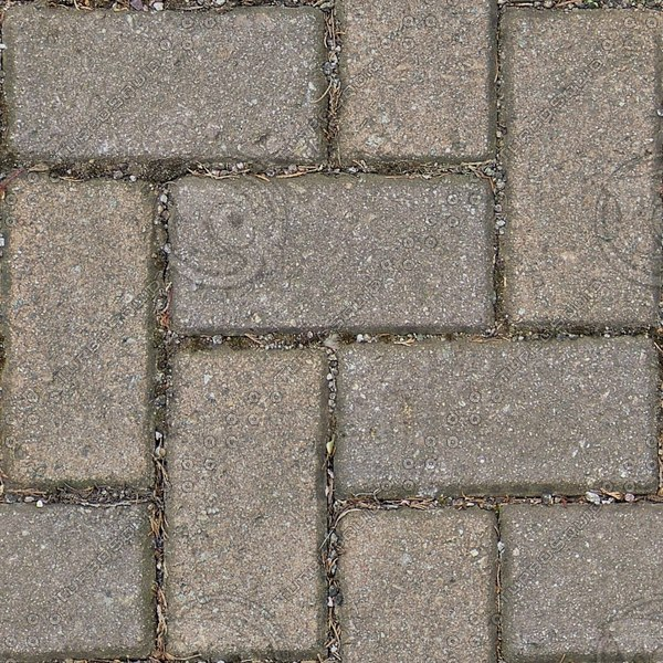 G317 herringbone brick paving