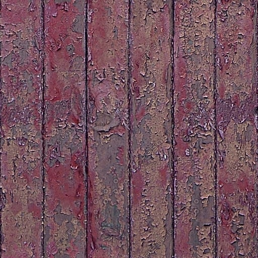 WD068 old painted wood wall fence