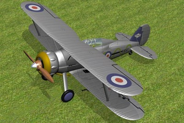 gloster gladiator fighter mk1 3d model - Gloster Gladiator MK1... by pbratt