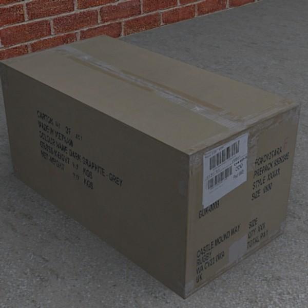 3ds max cardboard box