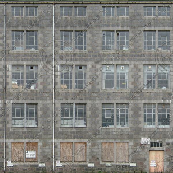 BF103 disused derelict building facade