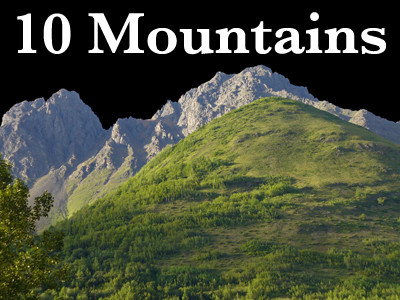 10 Mountain Cutouts