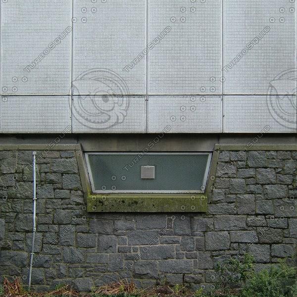 W076 stone wall facade