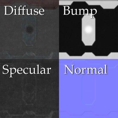 sf043 sci-fi metal wall texture