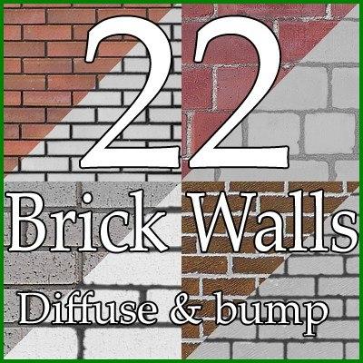 SRF_BRKC_22 bricks wall collection