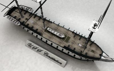 3d model u s constitution ship