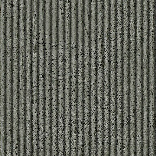 C092 concrete wall corrugated