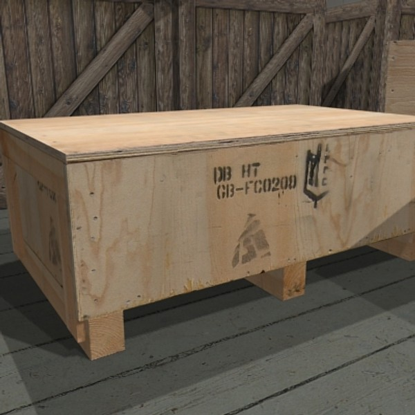 3dsmax wooden crate box