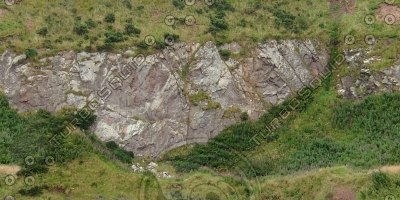 G355 hillside coastline rockface texture