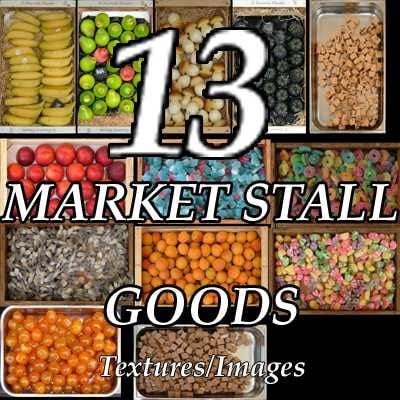 Market stall goods pictures collection