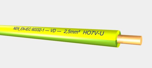 VD HO7V-U 450 750V 2,5 mm2 yellow green.max
