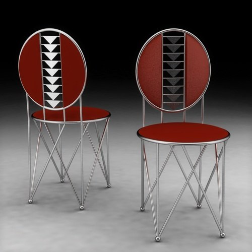 3d model of chair frank lloyd wright
