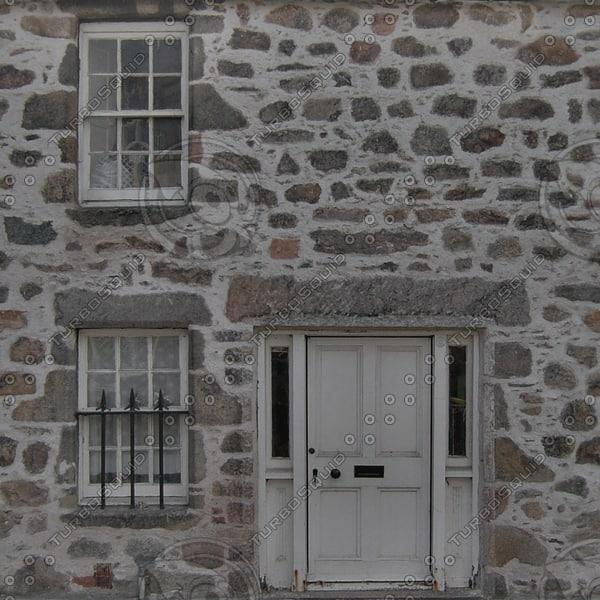 BF108 stone wall facade