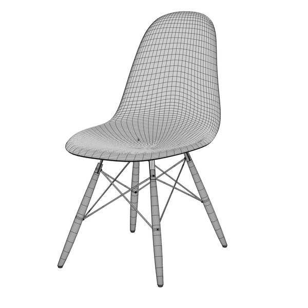 3d 3ds chair charles eames plastic for Icon mobel eames