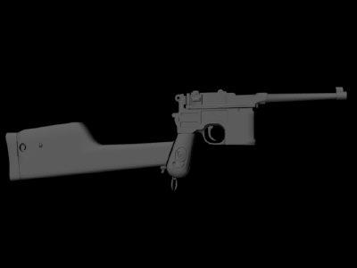 3d mauser red gun model