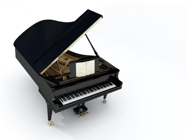 grand piano 3d max - GRAND PIANO... by Nodexis