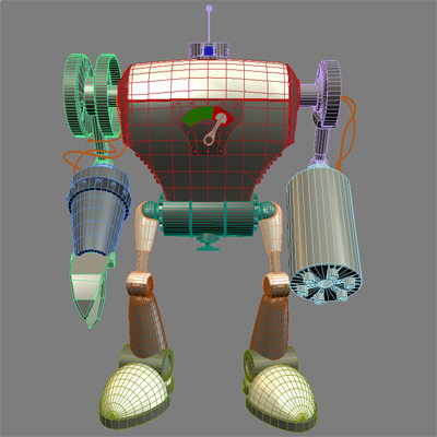 3d robot robo killer - Robo the killer... by little toyshop of uncle nazghul