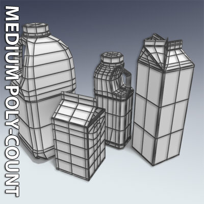 milk containers plastic bottle 3d model - Milk Container Collection... by Adam Walker Film