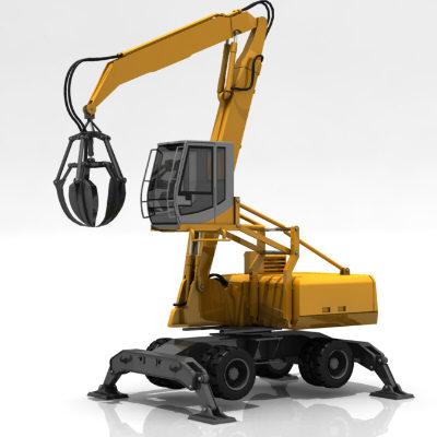 maya hydraulic excavator