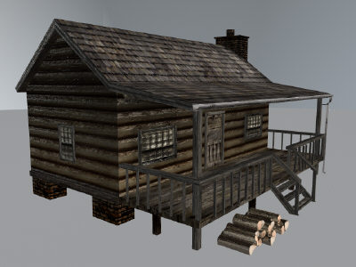 log cabin 3d obj - Log Cabin   GAME READY 360* View... by Monkey Wrench