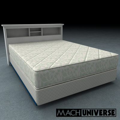 mattress boxsprings bedframe 3d lwo